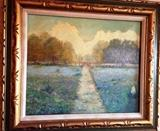 F.A. Cloonan Early Texas Artist. Original Oil on canvas