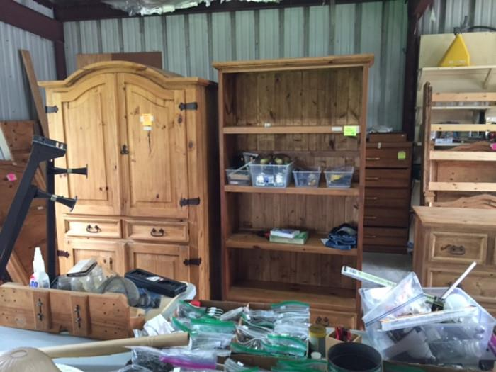 Rustic Furniture, Armoire, Bookshelves, Bunk Beds (not Pictured)