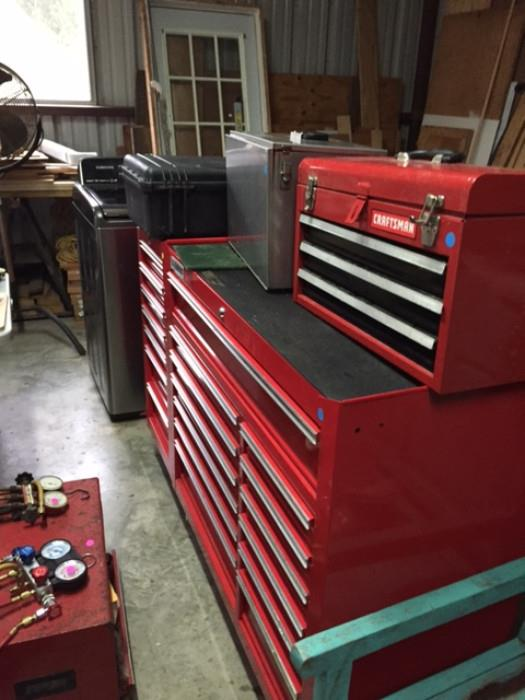 18+ US General Tool Chest, Very Nice! 3-Drawer Craftsman Tool Box