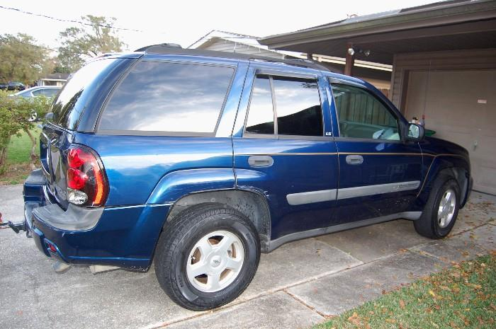 2003 Chevy Trailblazer, 73,000 miles, runs smoothly. A few scratches, dings and scuffing on the body, interior is super clean!