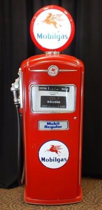 Restored Mobilgas Vintage Gas Pump
