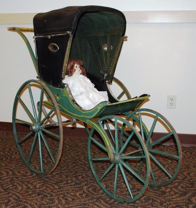 Victorian Original Condition Perambulator