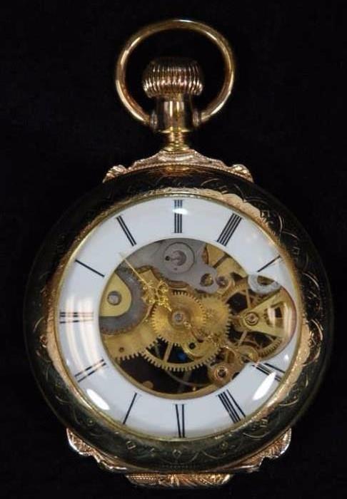 Antique Open Escapement Pocket Watch