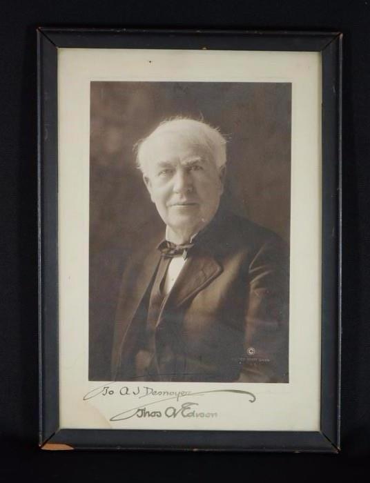 Autographed Thomas Edison Photo