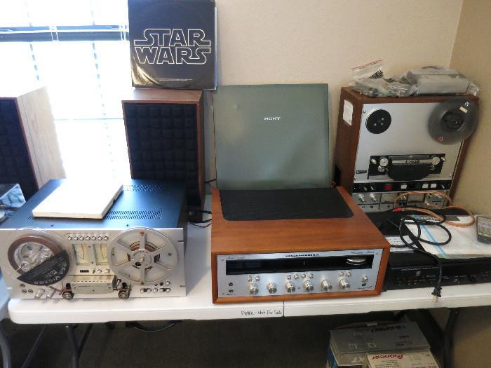 Pioneer RT 707, Marantz 2245 Quad Receiver.  Marantz Plays Well