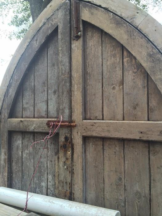 Antique arched doors from England (front view)