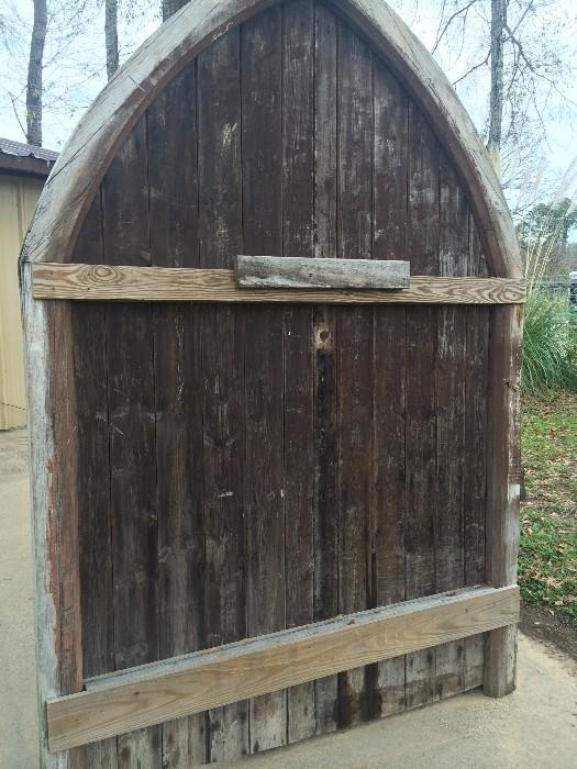 Antique arched doors from England (back view)