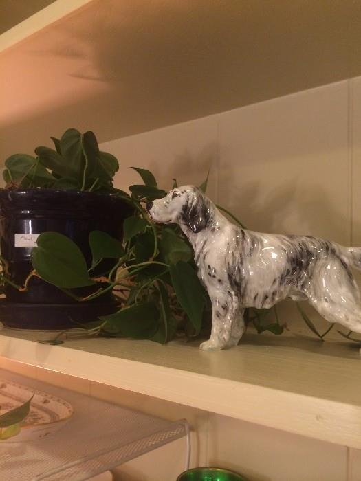 Delicate dog figurine