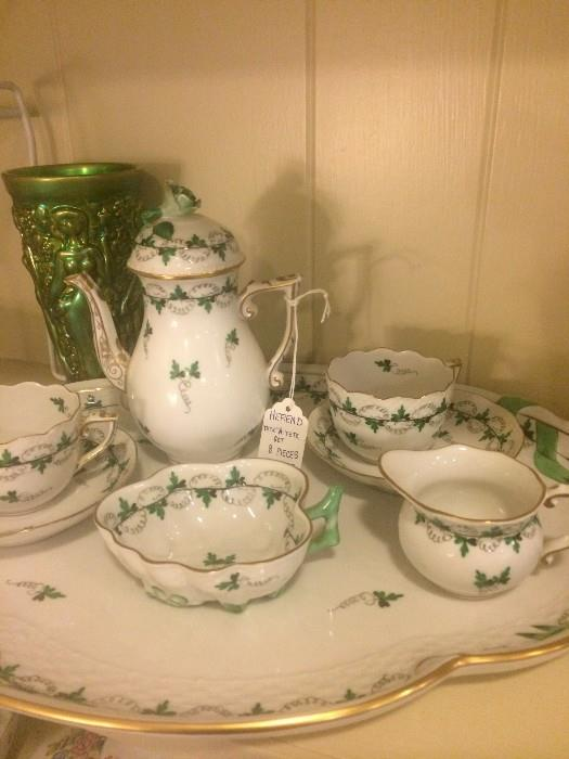 """Exceptional Herend """"Tete A Tete"""" set (8 pieces)"""