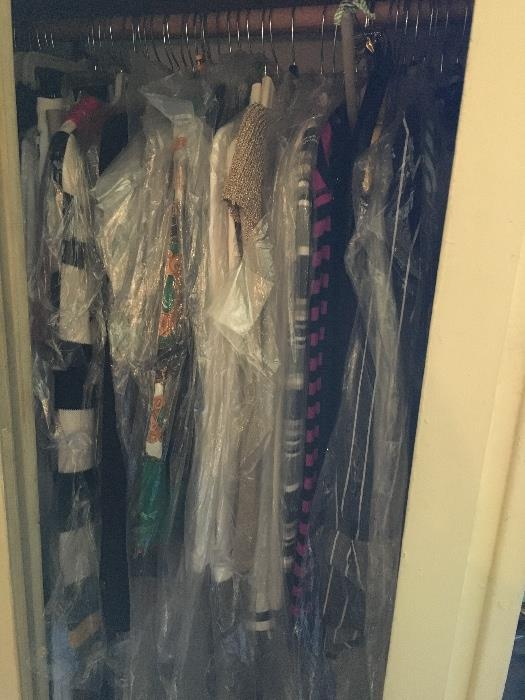 So much clothes! Each closet is packed, all in great shape