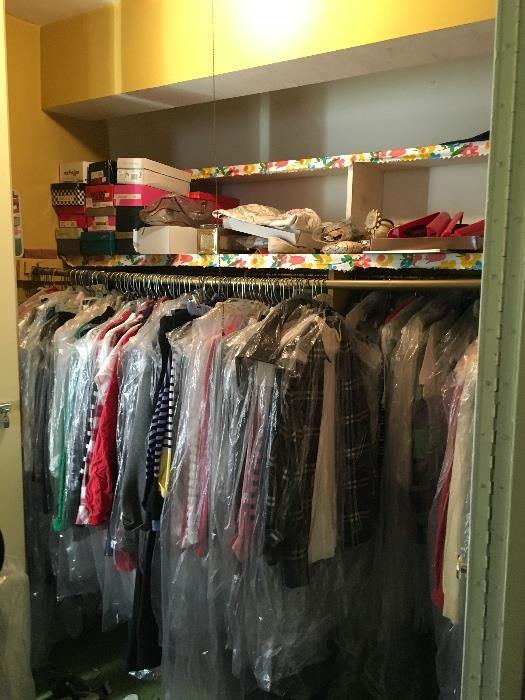 There are 4 closets packed like this one!