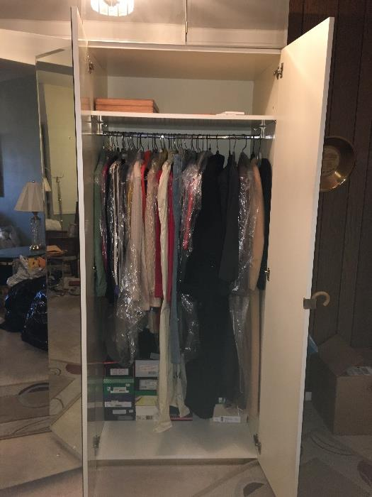 We have 4 tall mirrored closets available
