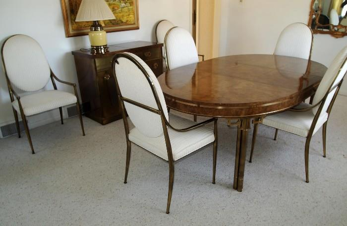 Mastercraft Dining Table w/ 6 Chairs (with 2 leaves and custom pads)