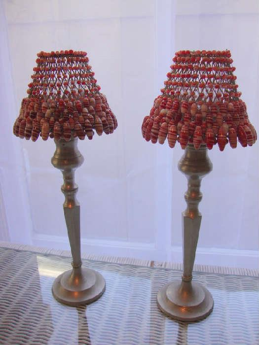 Matching Candle lamps with Beaded Shades
