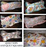 Quilt tops and quilt squares