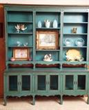 mesh front cabinet and book shelf has options...can be broken down into separate pieces