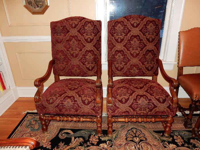 Antique 8 way, hand tied chairs.