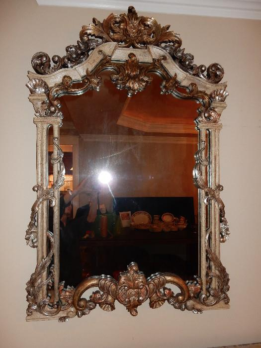 Handcrafted Antique Mirror from Italy.