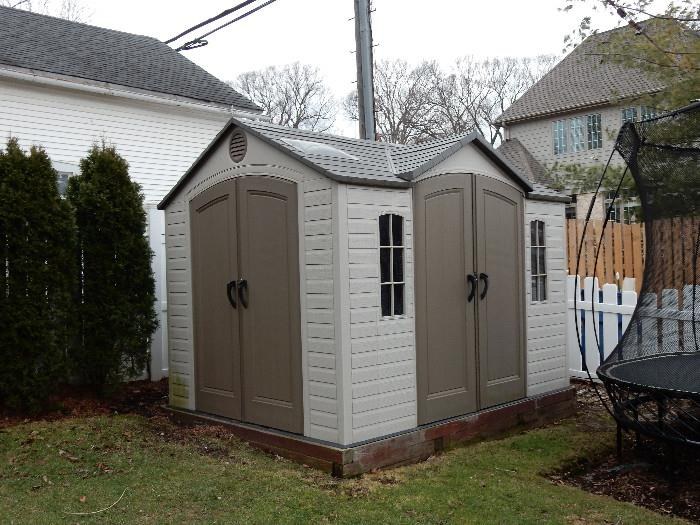 Lifetime Brighton 8' x 10' Shed with side entrance, windows and skylights.