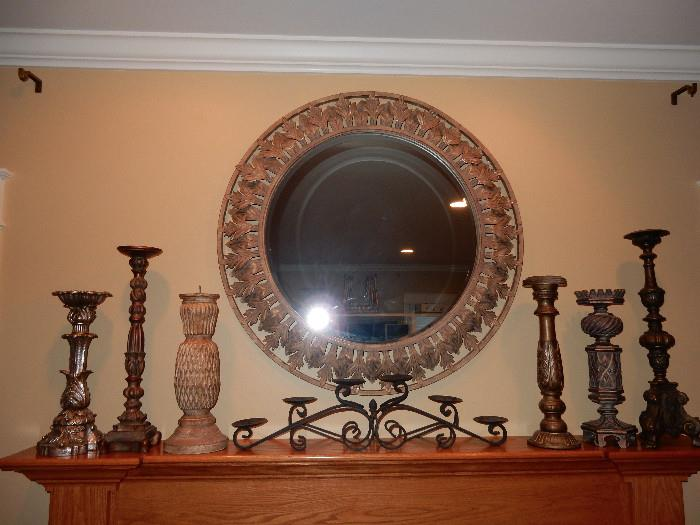 "Quality Mirror, 38"" diameter"