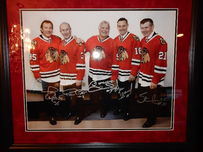 Signed Chicago Blackhawks Photo.