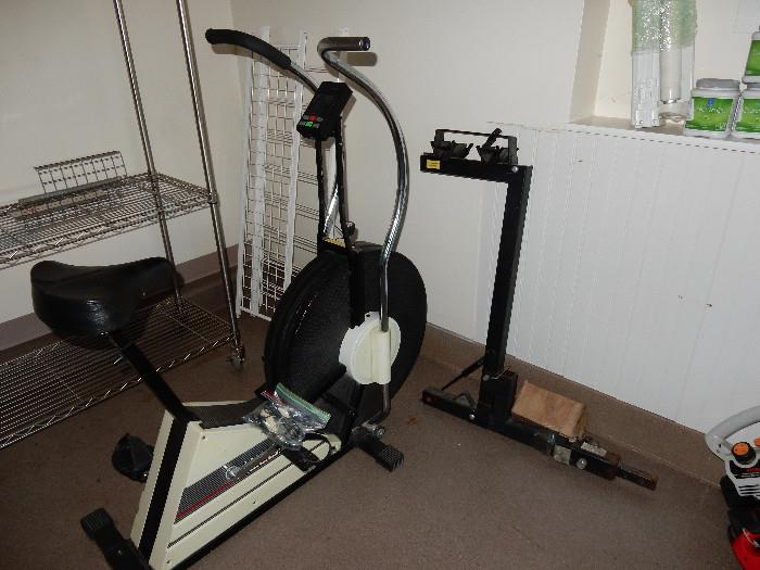 Exercise bike and Thule bike carrier.
