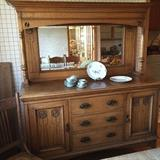 Elegant  China Cabinet - Art Nouveau Era