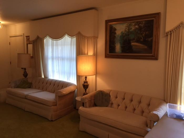 Henredon Tufted Couch and Love Seat