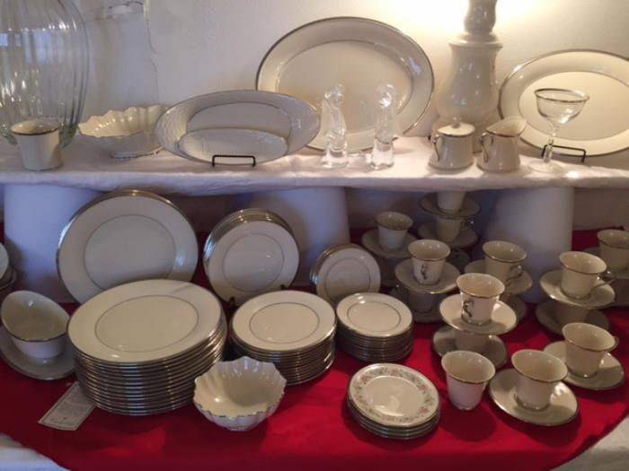 This Is A Beautiful Set Of Lenox Solitaire China.  We Have 93 Pieces! There Are Several Other Pieces Of Lenox That Compliments This Set For Sale.