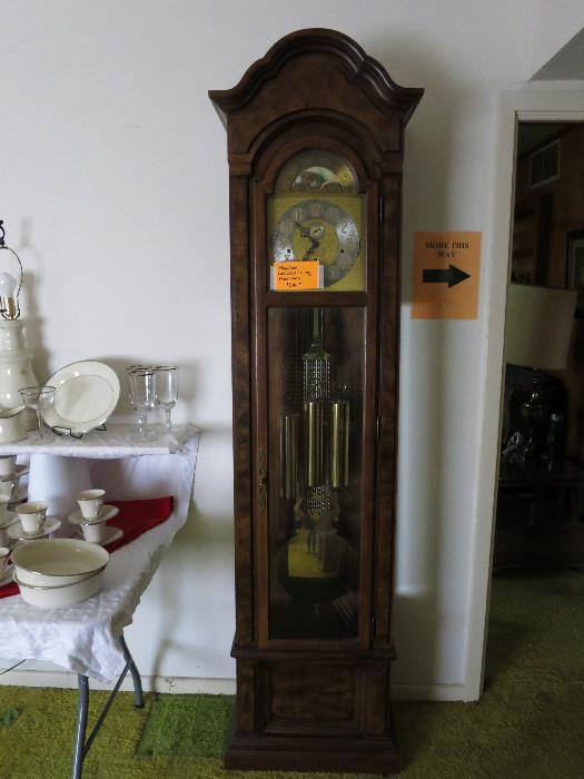 Hamilton Lancaster County Floor Clock, German Movement, Great Shape!