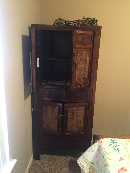 ANTIQUE ASIAN HAND-MADE CABINET