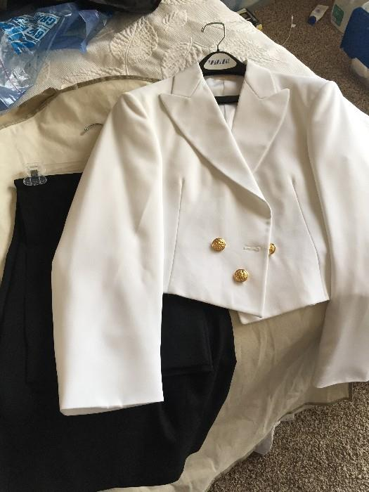 NAVY DINNER DRESS WHITE UNIFORM