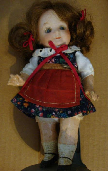 Bisque Head Doll - Rare 7' Gebruder Heubach 9573 Googly Eye