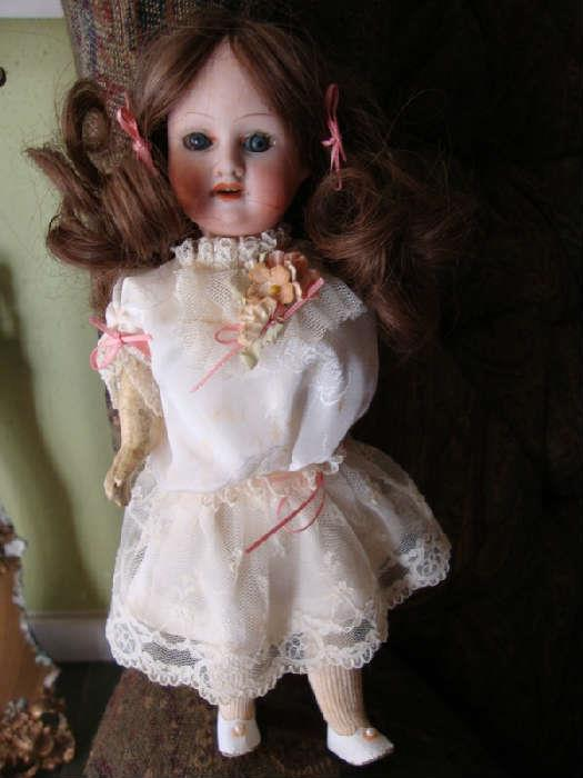 """Armand Marseille 390 Bisque Head Doll, approx. 8 - 10"""" tall"""