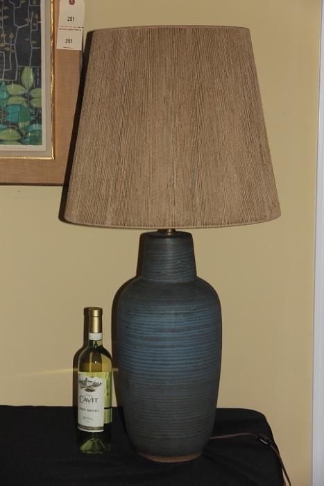 Midcentury Modern pottery lamp