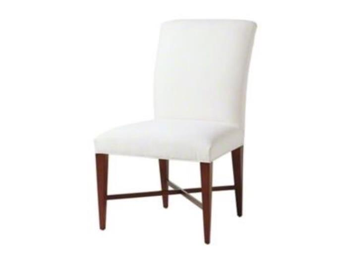 There are 12 archetype side chairs in a beige fabric.