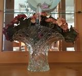 Vintage Pressed Glass Basket