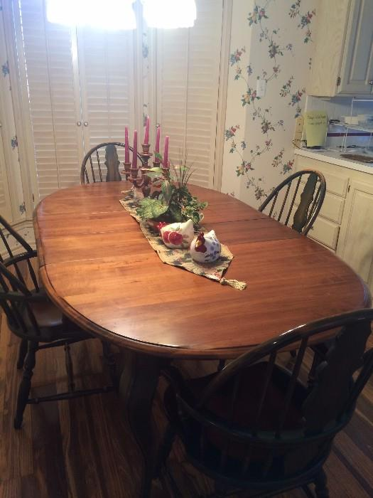 Oval breakfast table with Windsor chairs