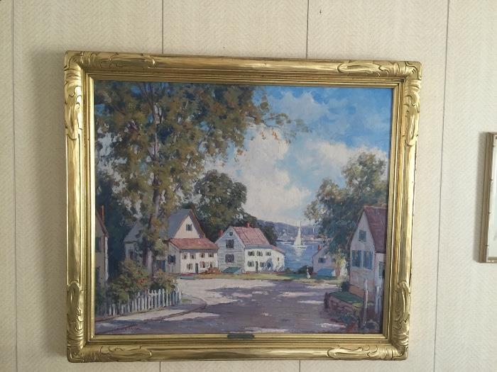 Original Oil painting ? Summer Day Rockport Mass,  Artist Camillo Adriani