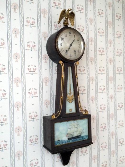 Seth Thomas Banjo wall clock