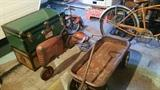 Trunks, tractor, pedal car parts