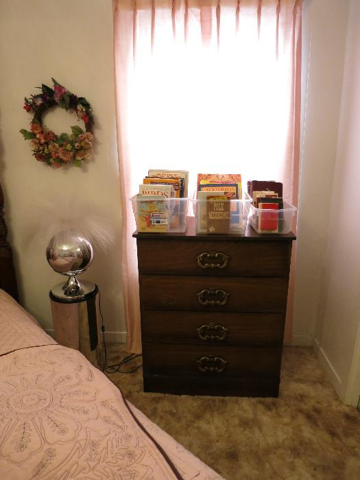 Chest of Drawers, Optic Lamp, Bibles,