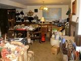 Many items in basement