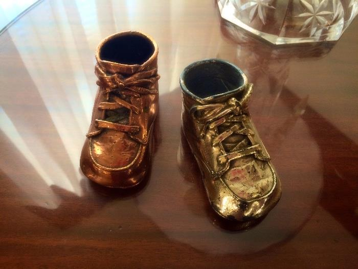 'Bronzed' Baby Booties