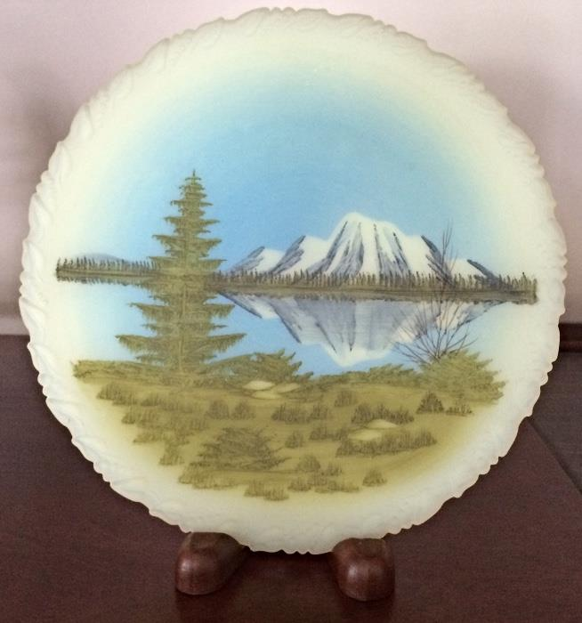 Hand Painted Fenton Art Glass Plate