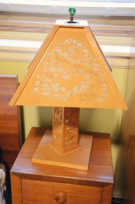 Wood Cut Lamp