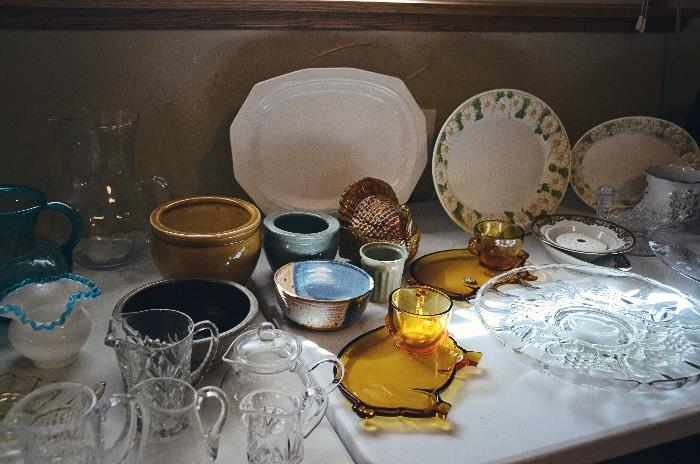 Glassware and Pottery