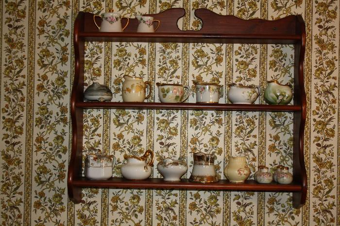 Wall shelf and creamer collection (sold separately)