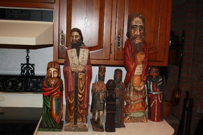 Collection of vintage Santos