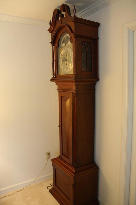 Antique tall case grandfather's clock